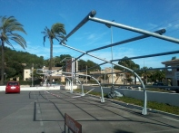 Estructura destrozada